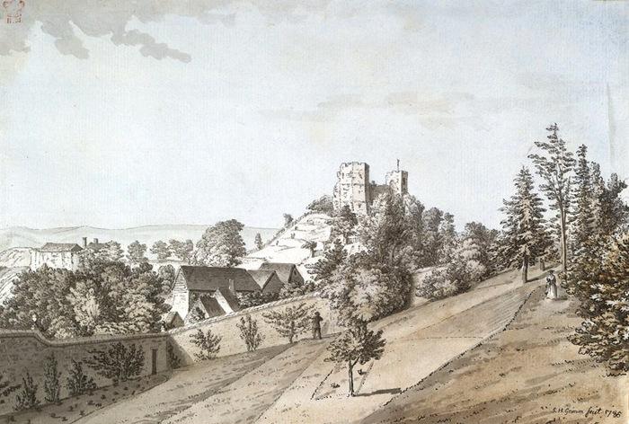 Lewes Castle, 1785 (700x472, 127Kb)