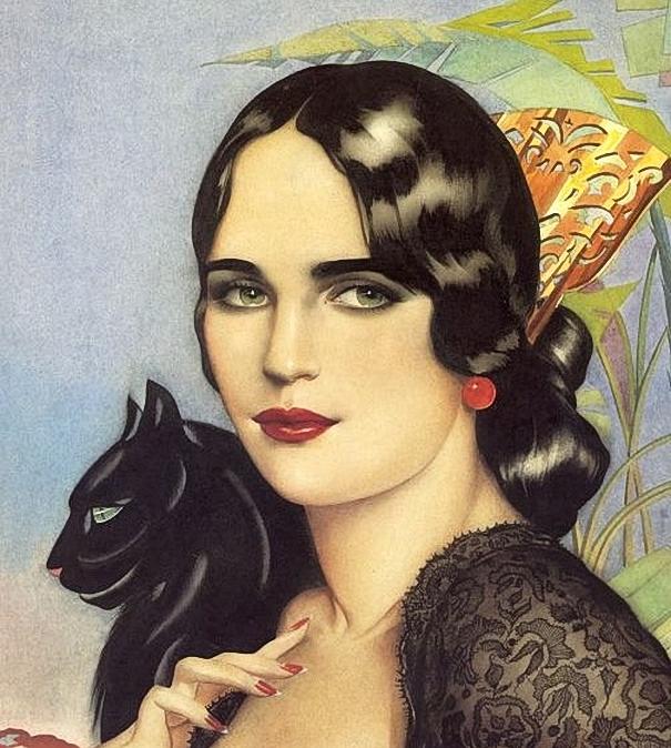 Alberto Vargas . Spanish Gypsy 1928 (605x674, 341Kb)