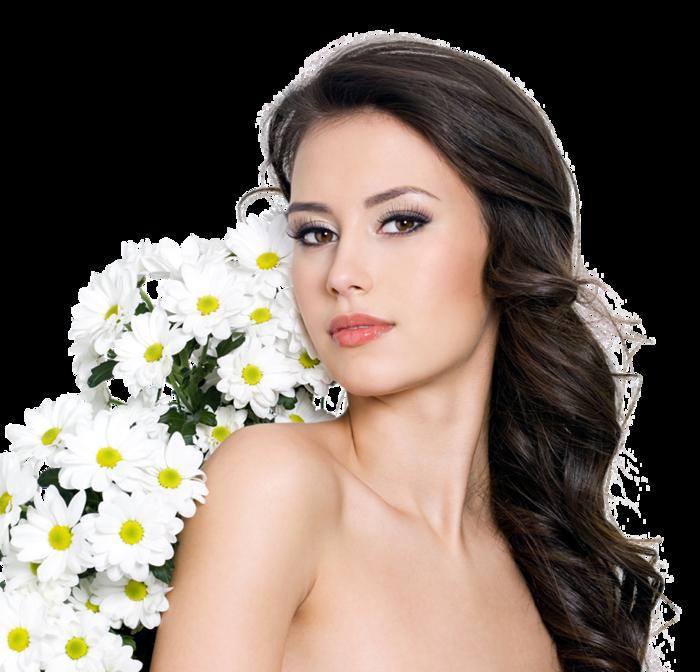 Дама с цветами картинки 2