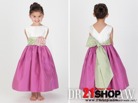 Charming-A-line-Ankle-length-Bateau-Sash-Flower-Girl-Dresses-model-72708228 (575x432, 65Kb)