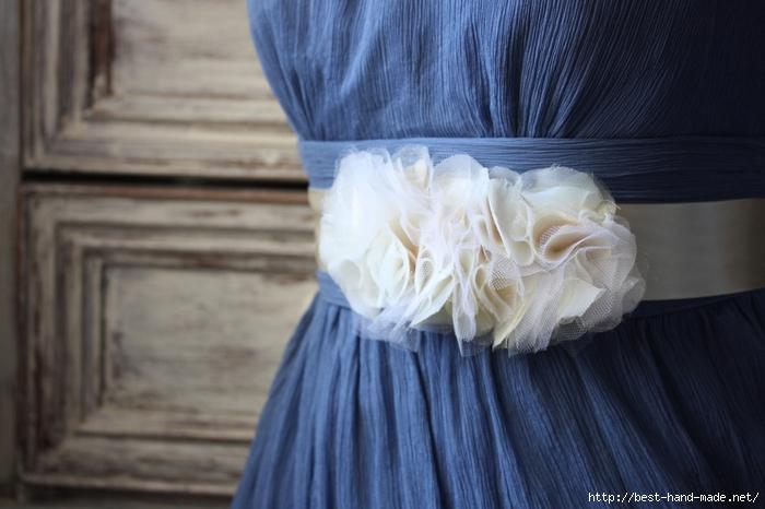 Пояс для платья мастер класс