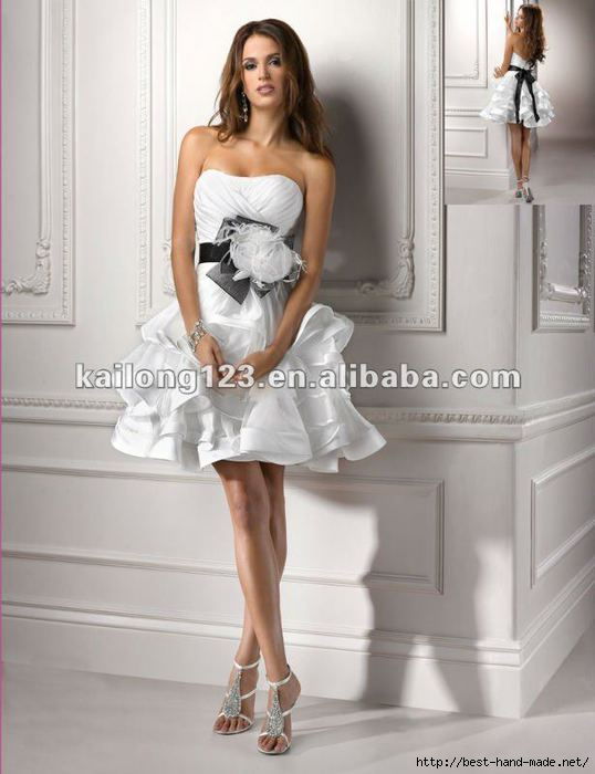 Strapless-Tiered-Skirt-Feather-Crystal-Flower-Belt-Satin-Organza-Sexy-Short-Wedding-Dresses (538x700, 131Kb)