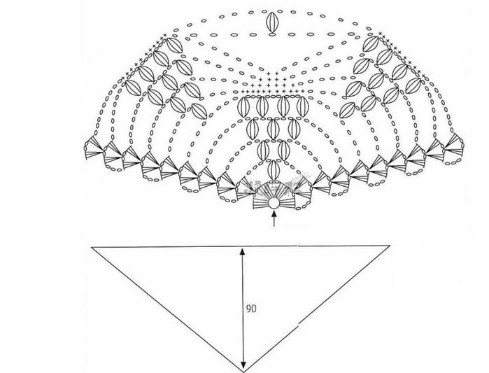шаль схема (700x533, 60Kb)