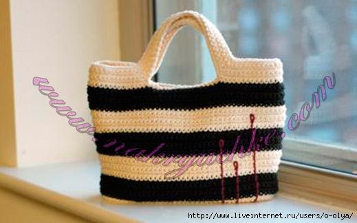 Вязаная своими руками пляжная сумка