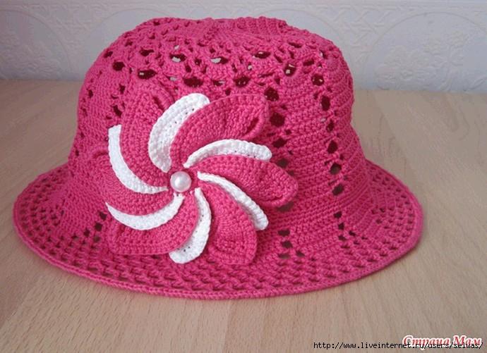Летняя шляпкапанамка крючком