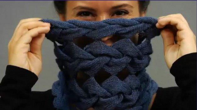 Вязаный шарф схема узора.