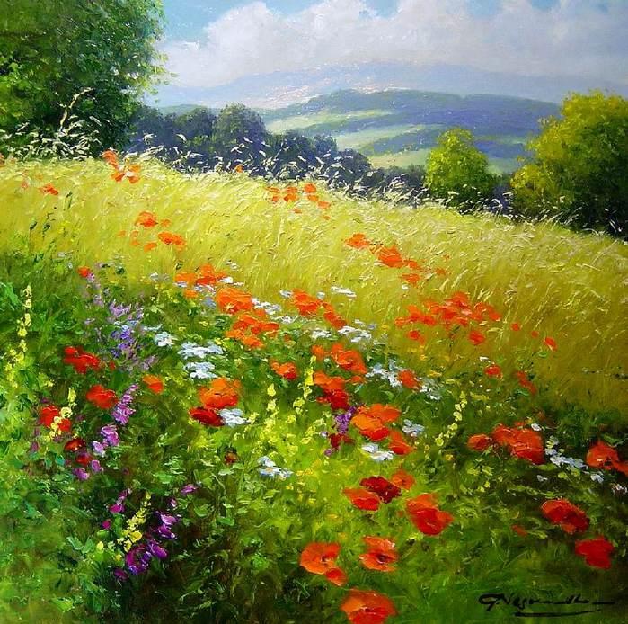 В лугах травы некошеной...художник Gerhard Neswadba.. Обсуждение на LiveInternet - Российский Сервис Онлайн-Дневников