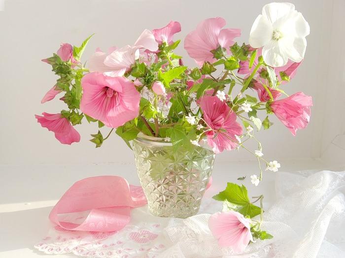 Фото красивый цветок в вазе