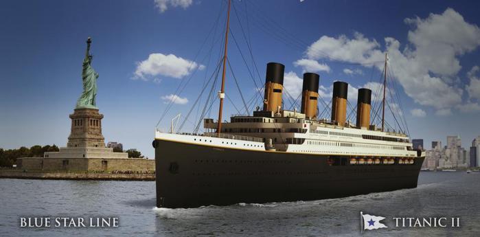 """В Нью-Йорке представлены чертежи круизного корабля  """"Титаник-II """" ."""