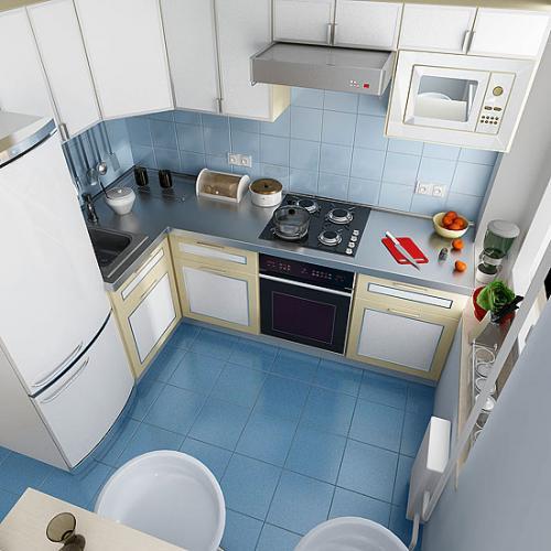 МАЛЕНЬКАЯ КУХНЯ в хрущевке 6 кв.м. 1 вариант - угловая кухня.  Всё то, что нашла подходящего в помощи размещения на...