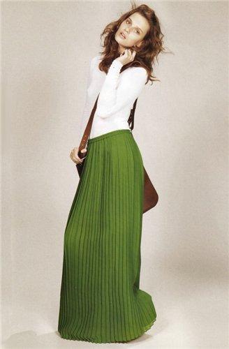 Купить длинные плиссированные юбки 2