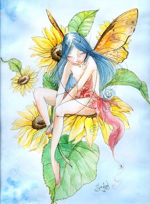 Меланхоличные феи итальянской художницы Сильвии Лагли (Silvia Lugli).