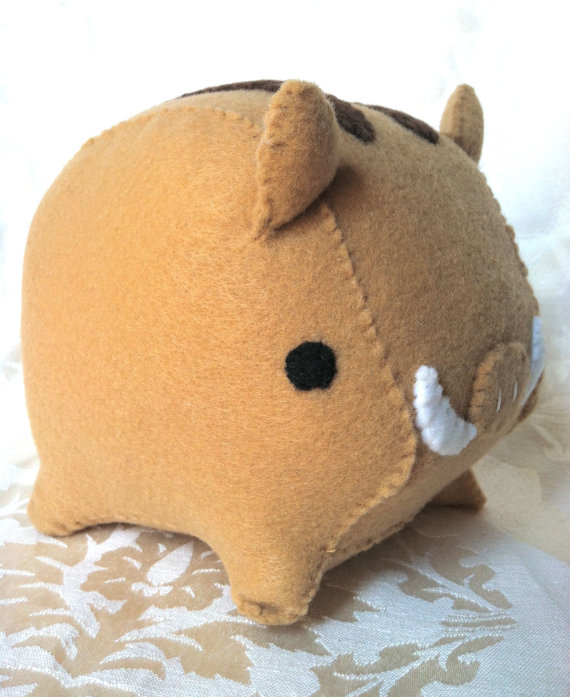 不织布立体小动物2_小牛妈