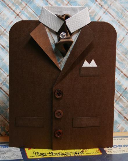 Открытка с днем рождения мужчине в форме рубашки своими руками - Самодельные