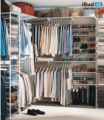 Гардеробные, шкафы-купе, прачечные, кладовые, прихожие, система хранения ELFA.  Выдвижные полки, корзины, брючницы...