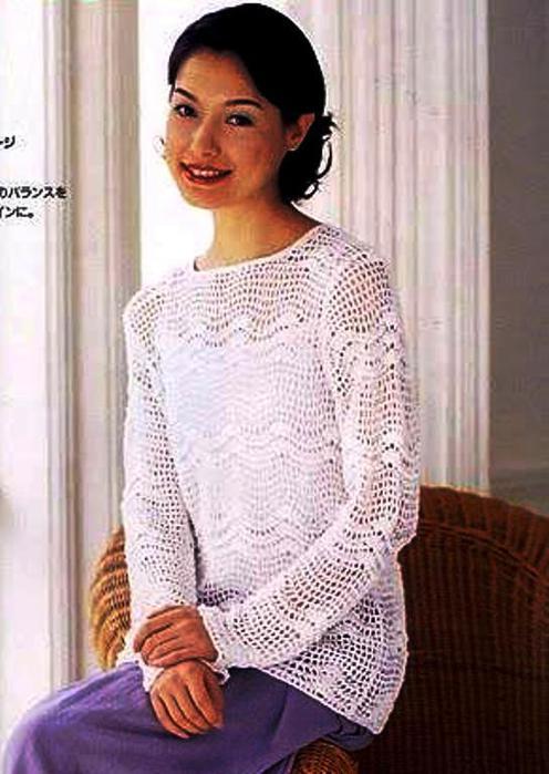 Белоснежный пуловер