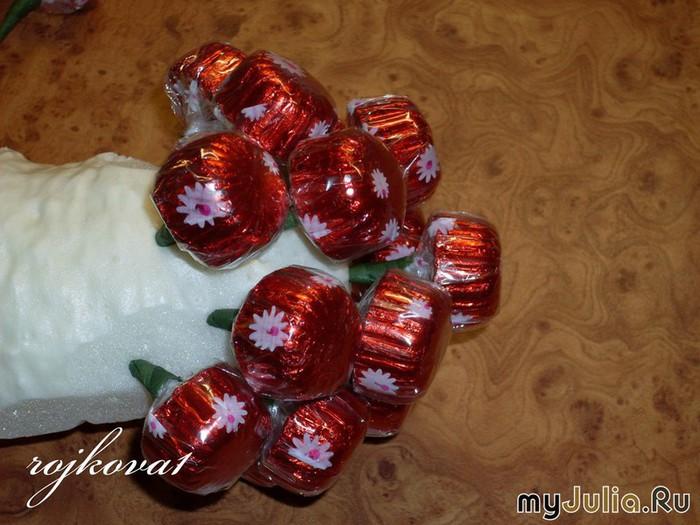 виноград из конфет мастер-класс (6) (700x525, 101Kb)