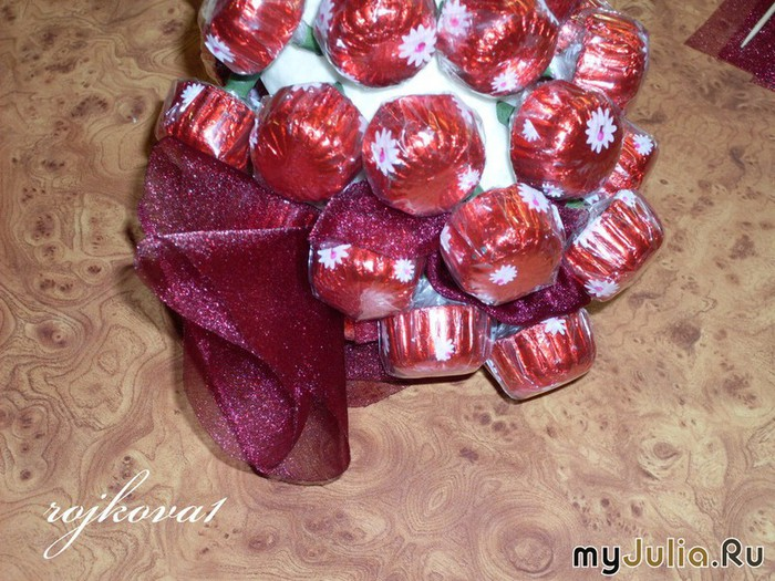 виноград из конфет мастер-класс (11) (700x525, 138Kb)