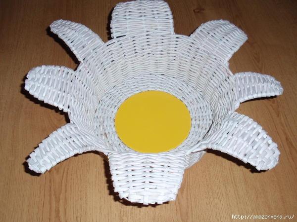 корзинка-солнышко из газет (5) (600x450, 135Kb)