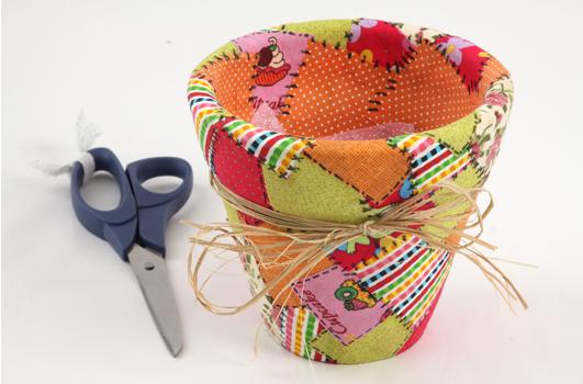 Как сделать горшок своими руками из ткани