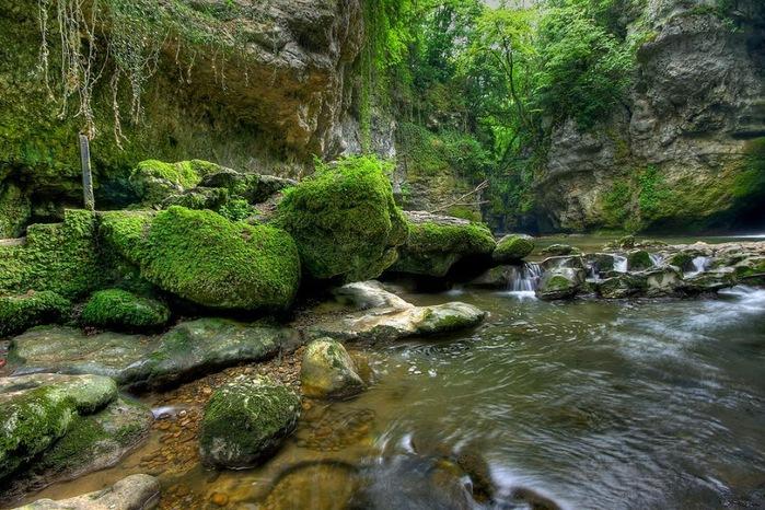 Водопад La Tine de Conflens, Швейцария 21112
