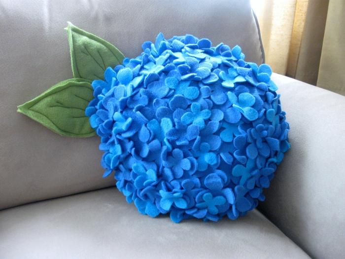 Шаблон цветок гортензии