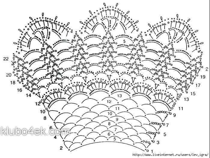 Ищете Вязание Крючком Воротник Схемы.  Найдите результаты на.  Схема для вязания кружевного воротника крючком...