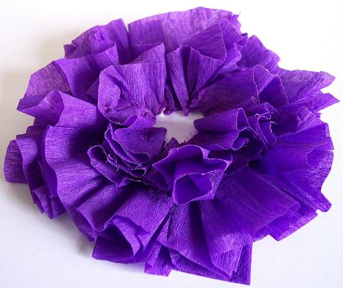 цветы из гофрированной бумаги (9) (500x421, 156Kb)