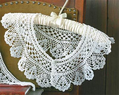 Вязание воротников спицами со схемами.