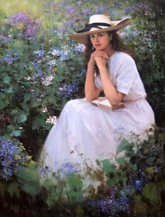 Женщ. шляпка полев. цветы (532x700, 100Kb)