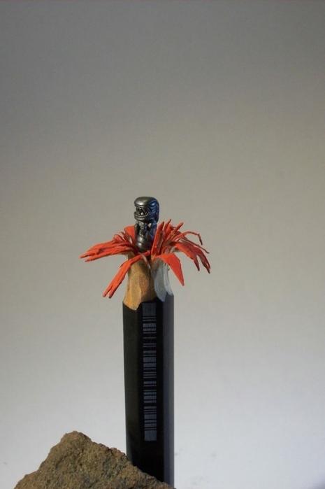 миниатюры из карандашного грифеля фото 9 (465x700, 120Kb)
