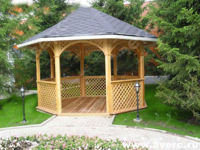 Садовая беседка своими руками как построить