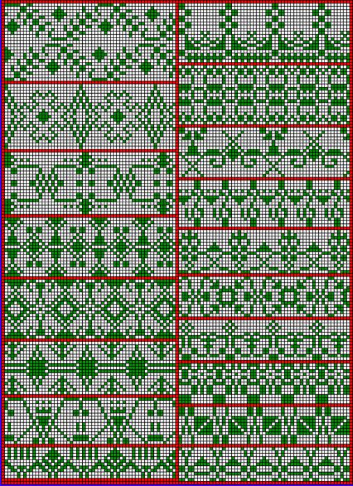 Схемы филейного вязания