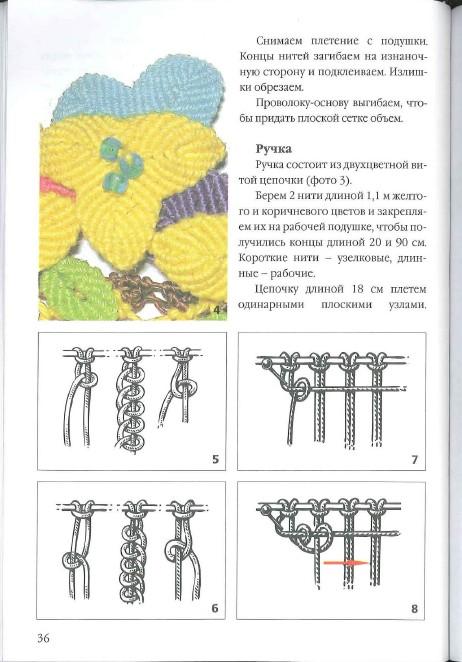 Вязание макраме и руководством