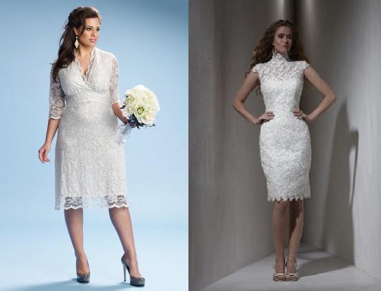 Платья для невесты за 40 лет