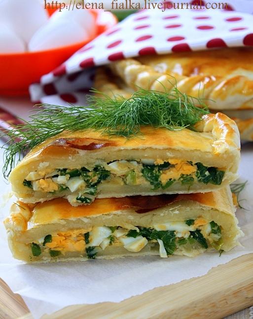 Пирог с луком яйцом и рисом рецепт