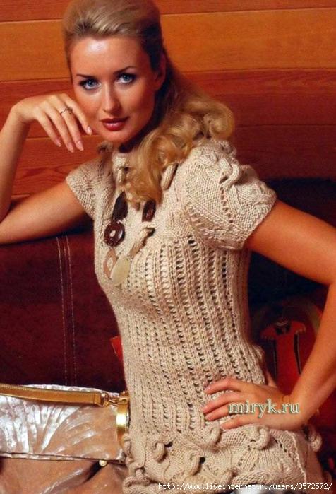 pulover-s-korotkimi-rukavami-uzorom-s-uzlami (476x700, 282Kb)