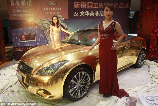 золотой кабриолет Infiniti G37 3 (638x430, 58Kb)