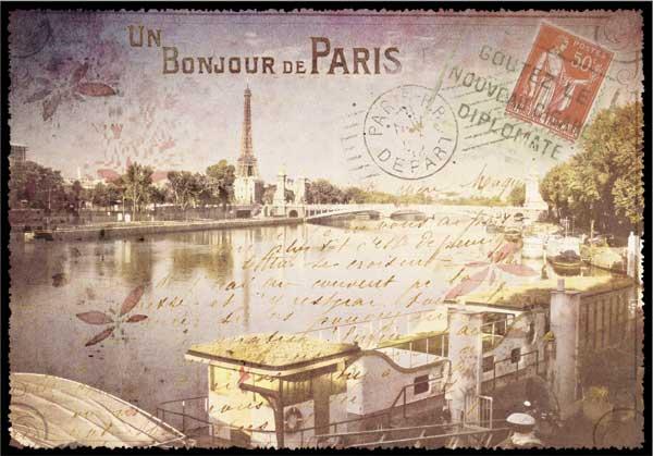 Париж на старинных открытках и