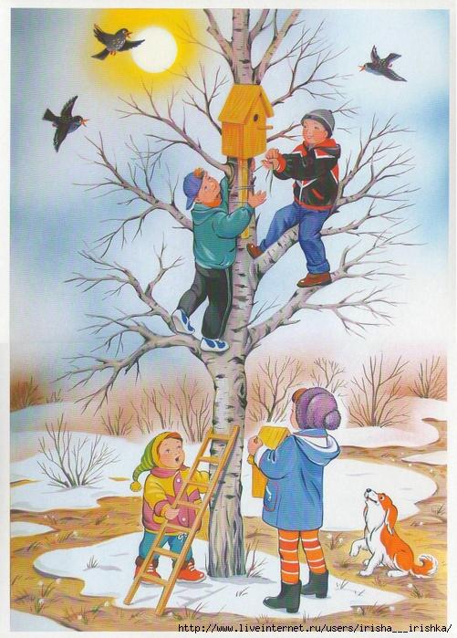 Картинки о весне для дошколят