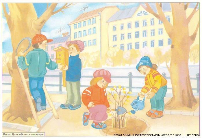 Весенние картины в детский сад