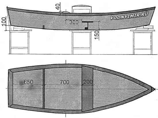 Чертежи фото лодки плоскодонки из фанеры своими руками - Самодельные
