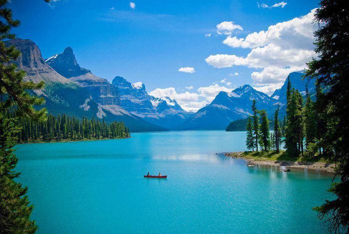 Озеро Μaligne, Канада (700x468, 63Kb)