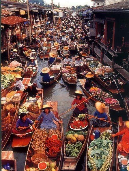 Плавучий рынок. Таиланд (447x594, 86Kb)