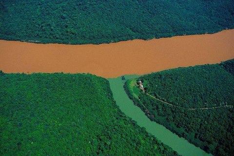 Слияние реки Уругвай и ее притока. Провинция Мисьонес, Аргентина (480x320, 44Kb)