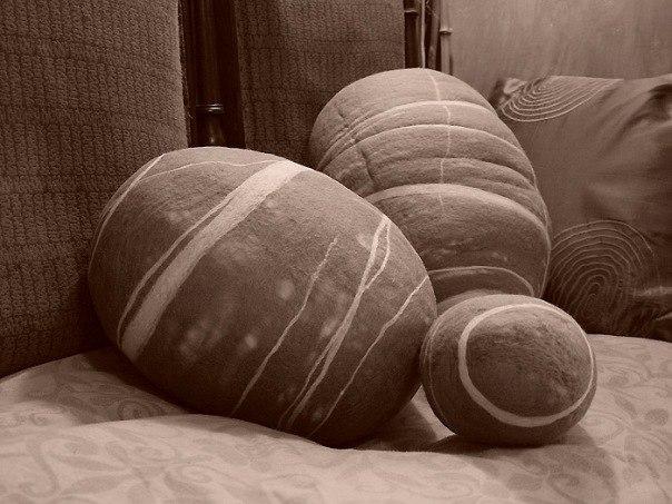0). Войлочные подушки морские камни.