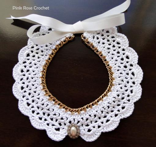 Colar Collana  Crochet Collar Necklace (510x480, 493Kb)