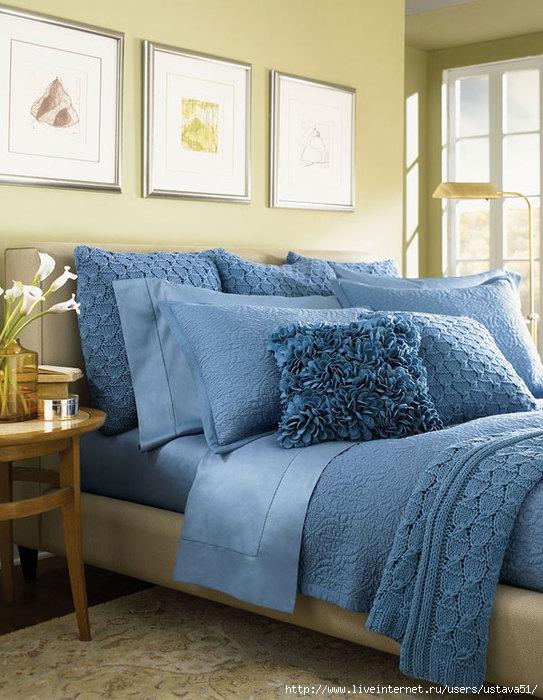Текстиль для спальни: стильное убранство кровати, красивые покрывала (фото)