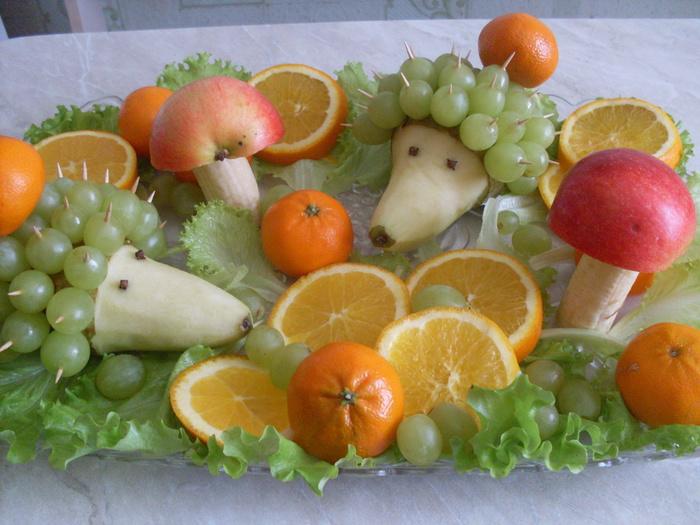 Украшения из фруктов и овощей своими руками фото