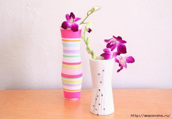 цветочная ваза из глиняных стаканов (7) (550x381, 92Kb)
